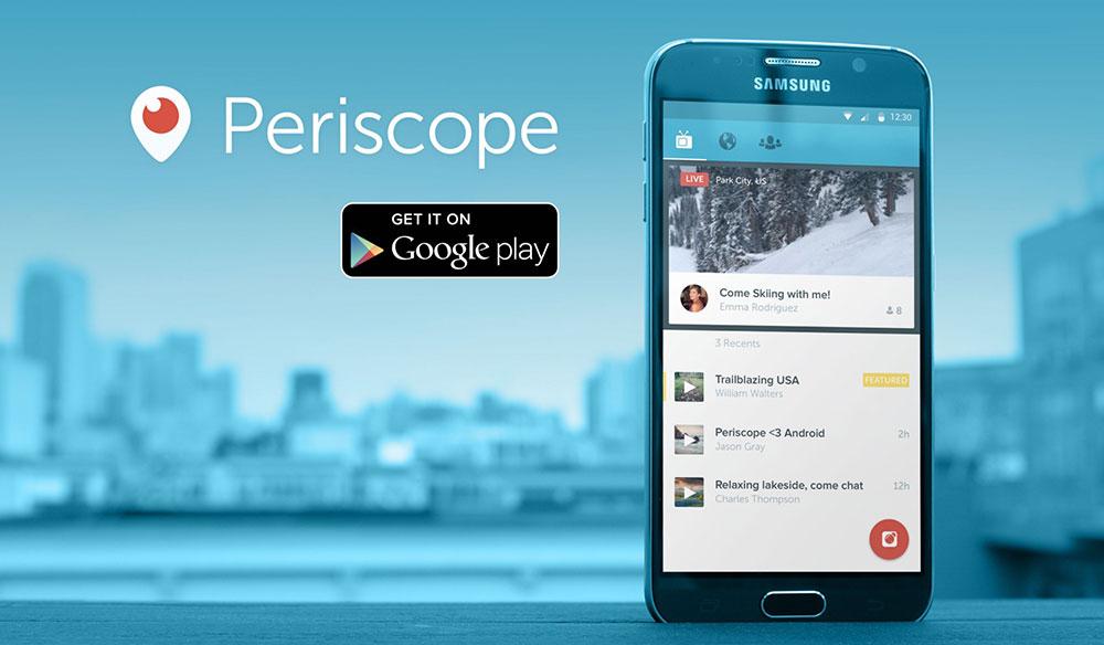 Periscope Android Canlı Yayın Uygulaması İndir