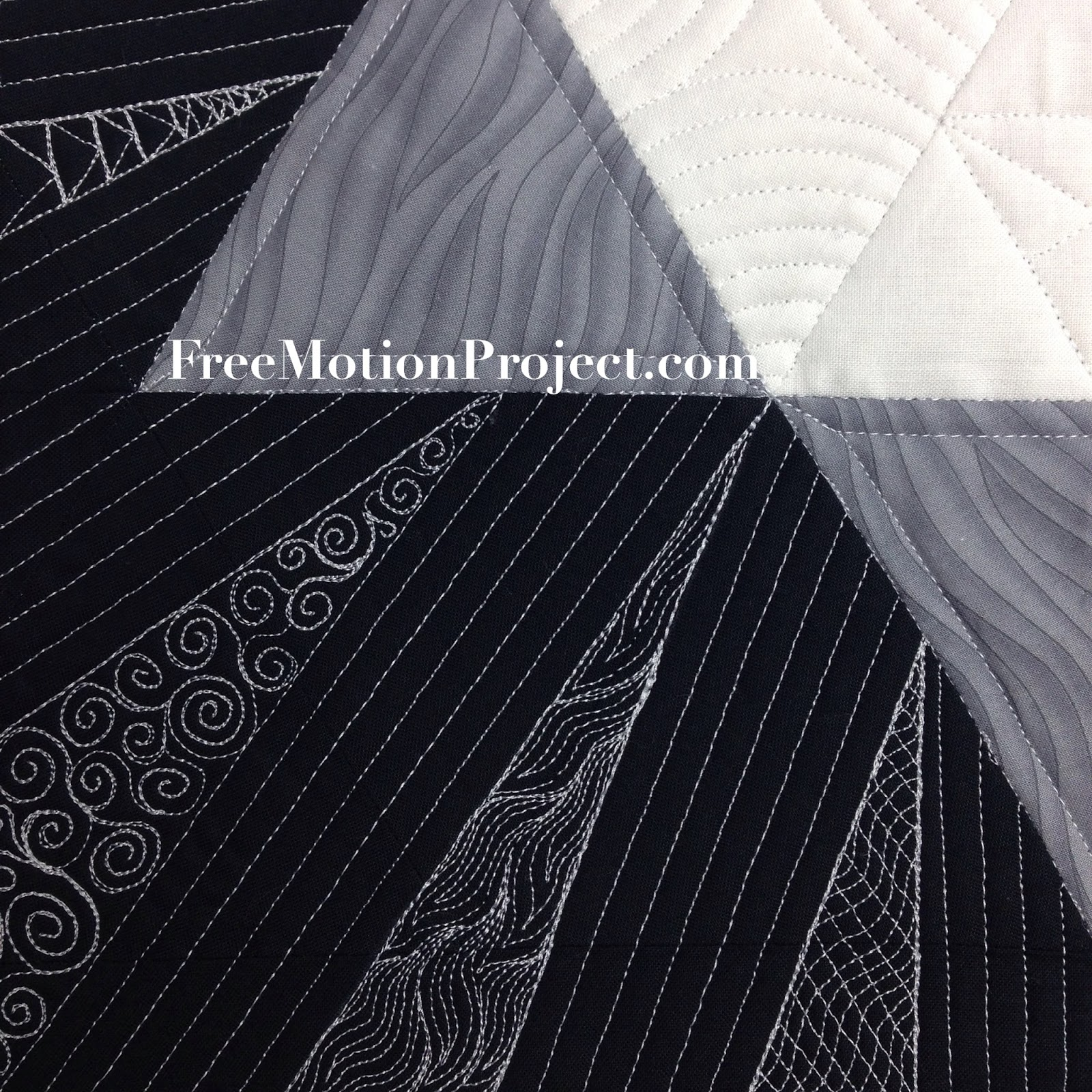 The Free Motion Quilting Project: Machine Quilting a Star Block with ...