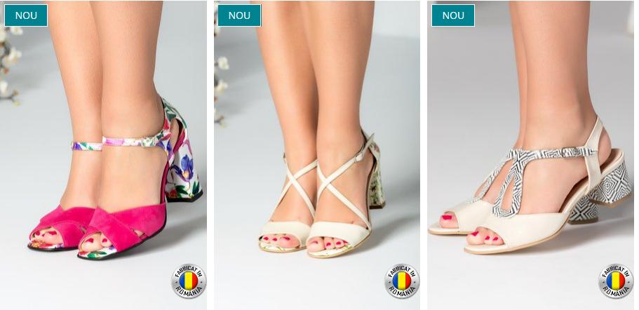 Sandale femei de vara cu toc gros piele naturala online modele 2018