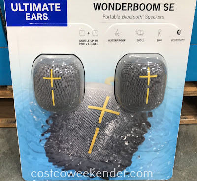 Listen to your favorite songs on your mobile device with the Ultimate Ears Wonderboom SE Portable Bluetooth Speakers