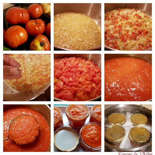 Paso a paso de salsa de tomate en conserva