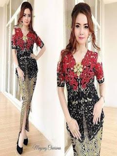 contoh model rok batik panjang