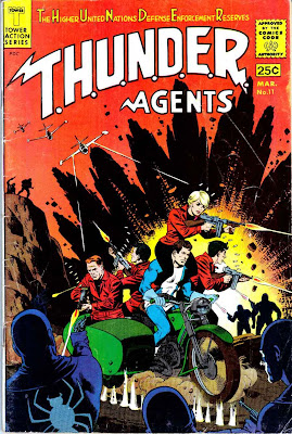 Thunder Agents v1 #11 tower silver age 1960s comic book cover art by Wally Wood