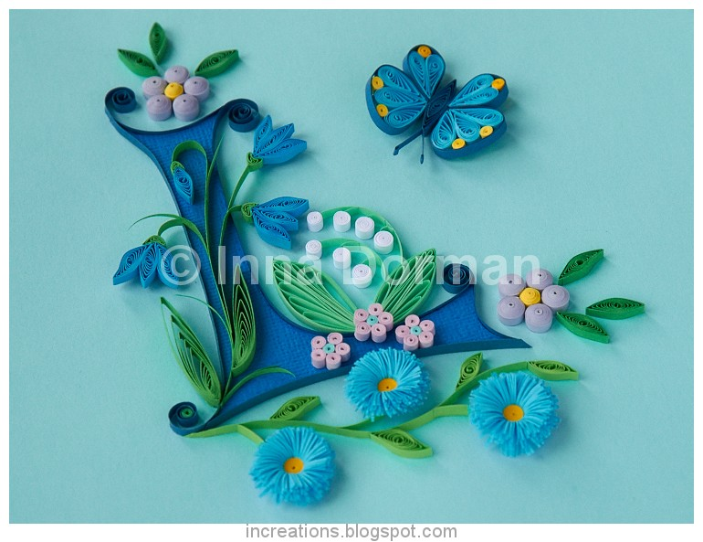 10 quilling art blogs for quilling lovers innas creations blog illuminated capital l altavistaventures Gallery