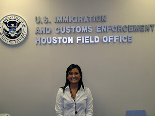 Esther Boyd did her internship with the Houston ICE office.