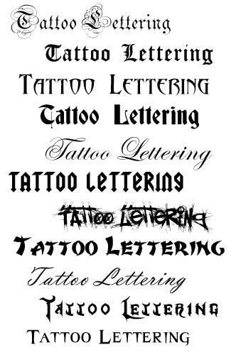 Tattoo Lettering Fonts3D Tattoos