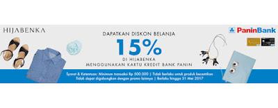 Diskon Belanja 15% Panin Bank - Hijabenka