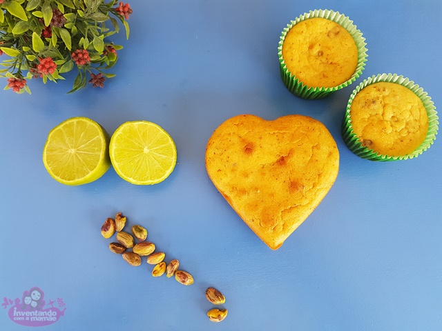 Receita de bolo de limão com pistache