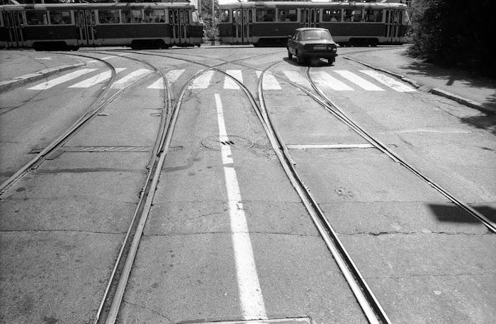 Prague, rue Klarov, rue Letenska, © L. Gigout, 1990