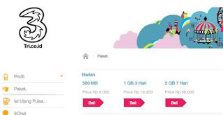 Daftar Harga Paket Internet 3 Tri 4G LTE Termurah 2016