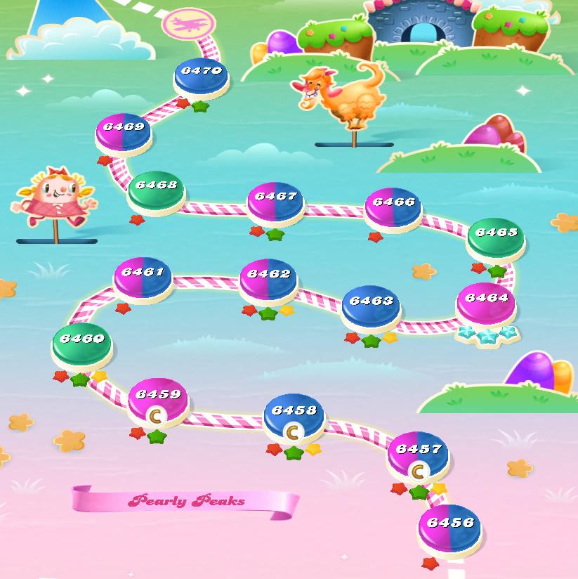 Candy Crush Saga level 6456-6470