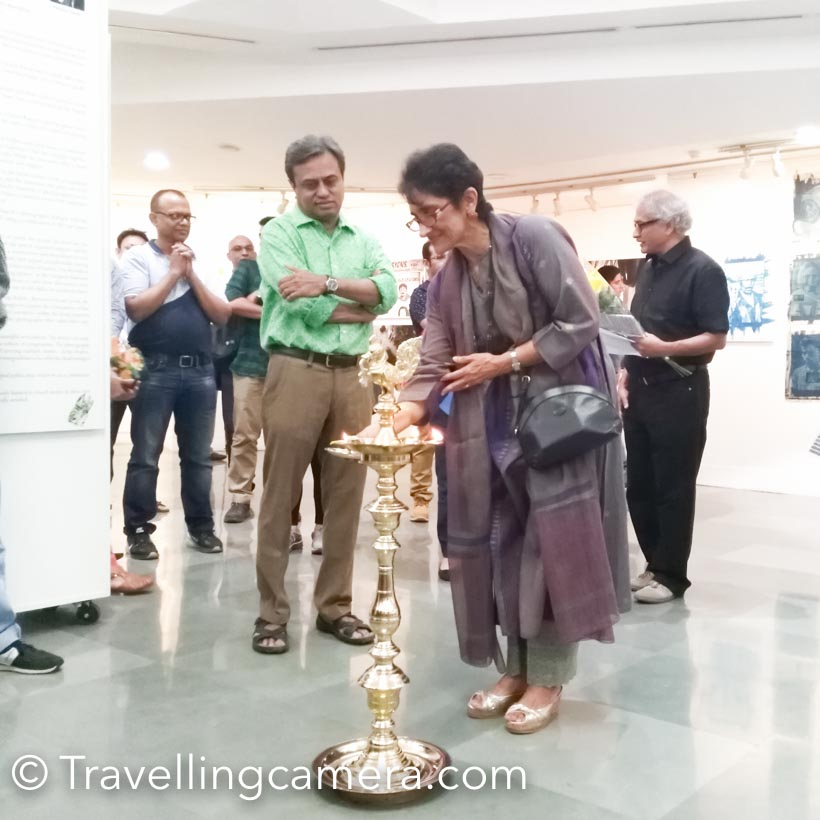 """a Photography Exhibition 'World of Recycle' is inaugurated at Indian International Centre, Delhi. This show is organized by India Photo Archive Foundation . Mr Aditya Arya  has curated the show and there are 9 Artists showcasing their work. It's a unique show happening in town and a must visit. Nine Artists include - Cheena Kapoor, Monica Tiwari, Manu Yadav, Rahul Sharma, Saumya Khandelwal, Shweta Pandey, Siddharth Behl, Sreedeep and Swarat Ghosh.Instead of saying anything about the show, I would highly recommend a visit to this show. Show is on till 11th April, so do find time and see some of the inspiring Photography art-works at India International Centre. Every artist has worked on different aspects of recycling and the work shows the amount of effort they have put in. Apart from the effort of thinking through the idea, executing it; each artists has put finer details in final presentation.Exhibition is inaugurated by Ashok Khosla  who is an Indian environmentalist currently based in Delhi. He received his PhD in experimental physics  from Harvard University in 1969 with a doctoral dissertation in the hyperfine structure  of hydrogen halide isotopes. He is the co-chair of United Nations Environment Programme International Resource Panel (UNEP-IRP) and is internationally known for pioneering and contributing to """"sustainable development. He is recognized for popularizing the word and concept of """"sustainability """" in international forums. He was actively involved in various projects that defined the environmental views and activities of institutions such as UNEP, UNESCO , UNU, the U.S. Academy of Sciences, IUCN  and ICSU.This show is part of Neel Dongre Grant , which is given to various artists every year. If you are working on a Photography project and intend to take your project to a different level, do check out more about Neel Dongre Grant at shared link.Shweta has used a different printing medium and you must talk to her to know more about the whole process and"""
