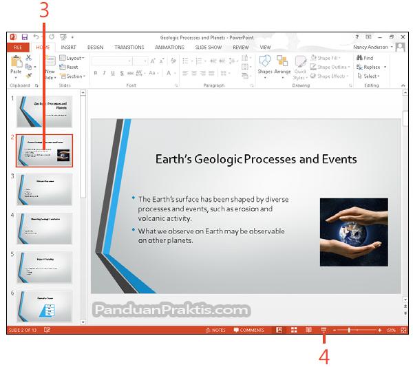 Cara Memulai Menjalankan Presentasi Di PowerPoint 2013