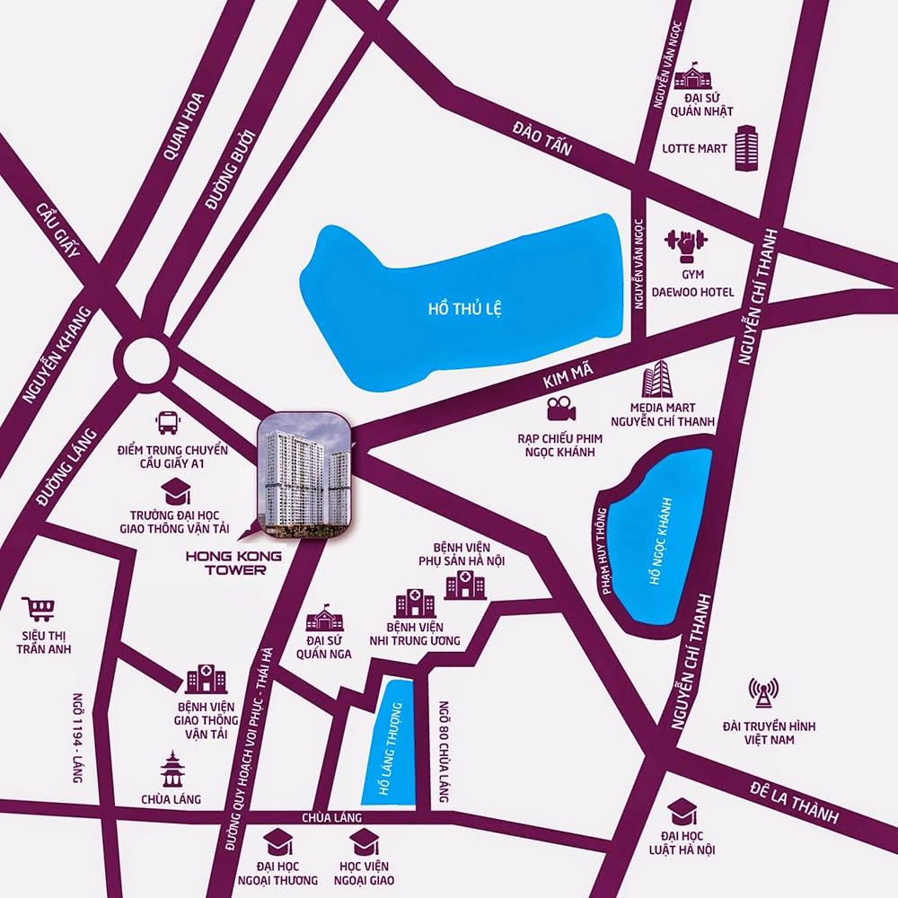 Vị trí chung cư Hong Kong Tower