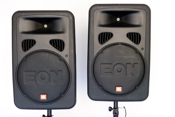 heygreenie jbl eon15 g2 speaker monitor w ultimate stands orig boxes. Black Bedroom Furniture Sets. Home Design Ideas
