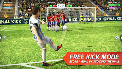 Tampilan Game Final kick: Online football
