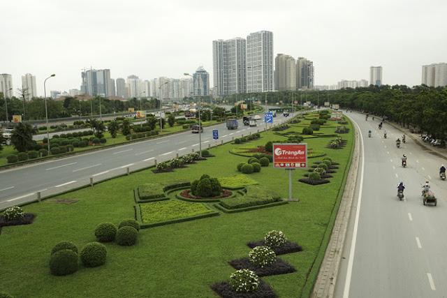 Dự án nằm trên trục đại lộ Thăng Long