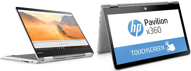Lenovo Yoga 710-14IKB (80V4002MSP) vs HP Pavilion x360 14-ba028ns