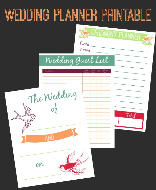 6+Wedding Planner Printable Set The Best Wedding, Easter, Spring and More Printables 42
