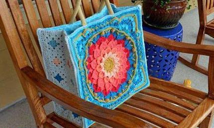 Patrón #1223: Bolso a Crochet