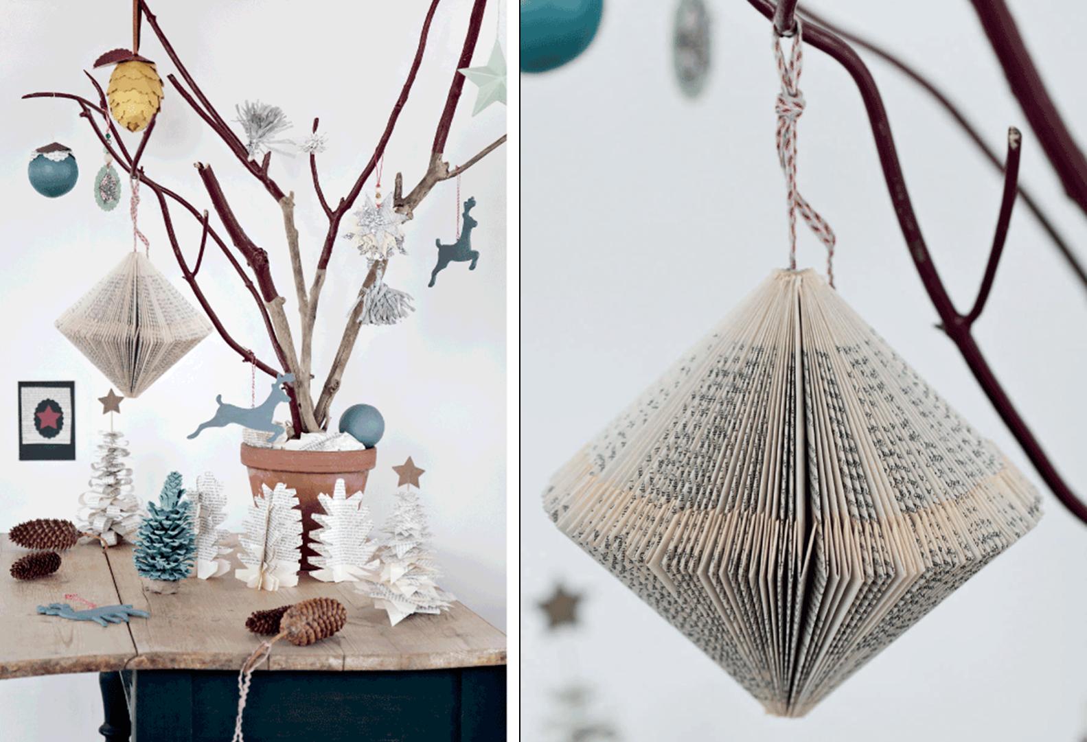 Decoraci n f cil adornos de navidad reciclando papel for Adornos casa ideas