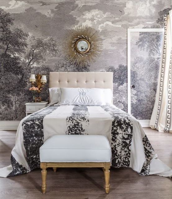 Obsessed anthropologie arcadia wall mural brooklyn for Anthropologie wallpaper mural