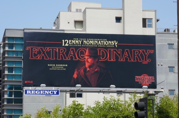 David Harbour Stranger Things 2 Emmy billboard
