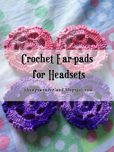 Crochet Ear-pads for Headsets