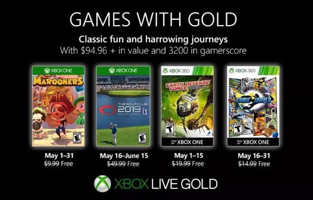 Games With Gold: Δείτε τα δωρεάν παιχνίδια του Μαΐου