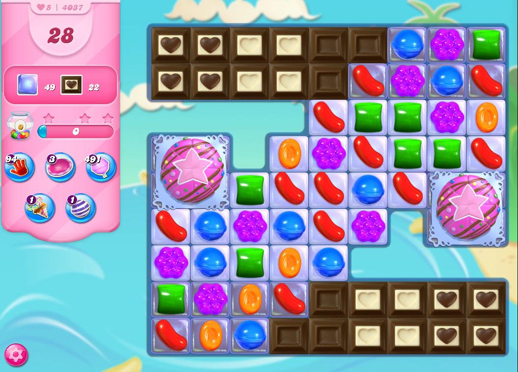 Candy Crush Saga level 4037