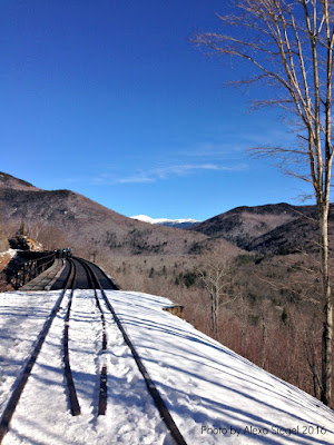 Crawford notch, ice climbing, trestle