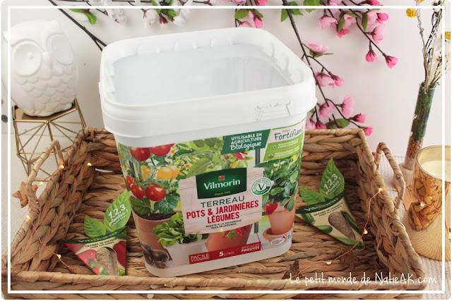 Terreau pots et jardinière légumes utilisable en agriculture biologique de Vilmorin