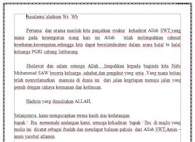 Contoh Pidato Halal Bi Halal PGRI Dalam Rangka Idul Fitri