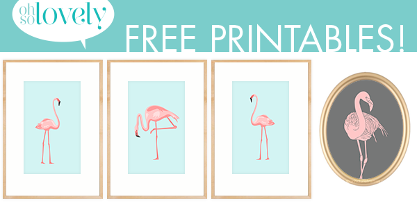freebies pretty in pink flamingos - Free Print Pictures