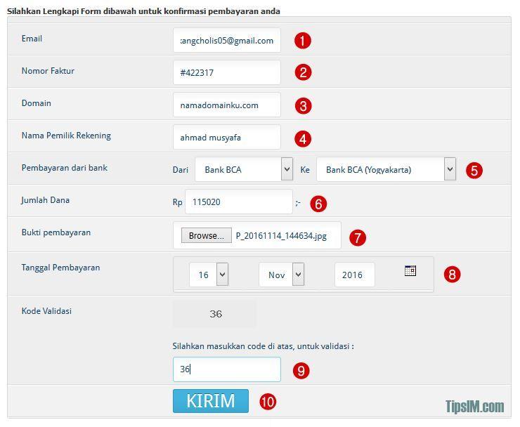 Panduan Cara Konfirmasi Pembayaran Domain di IDwebhost