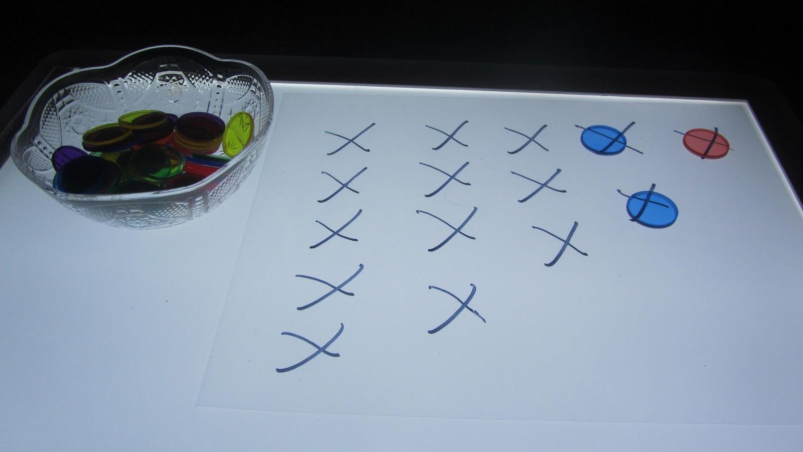 Fun Home Made Light Table Worksheets Amp Plastic Snowmen