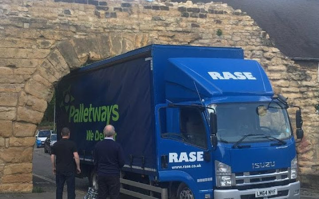Oldest working Roman arch in Britain damaged by lorry driver
