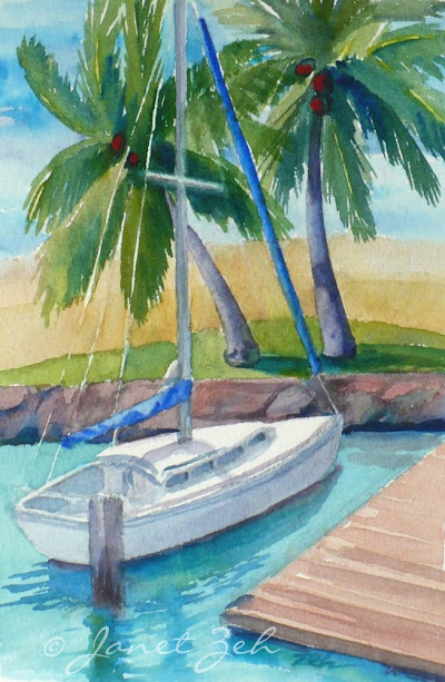 One of my plein-air paintings of Hawaii