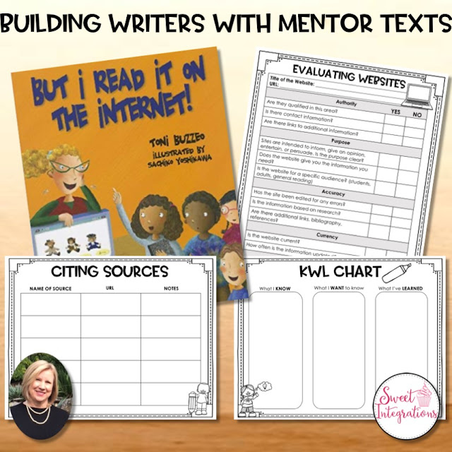 Building Writers with Mentor Texts - FREE download to help your upper elementary students