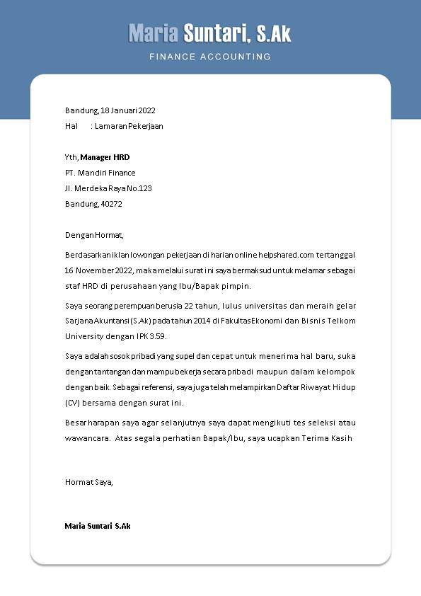 Kop Surat Lamaran Kerja 10