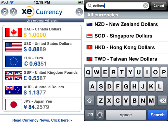 XE CURRENCY - 10 Best Travel Apps For Travelling Enthusiasts