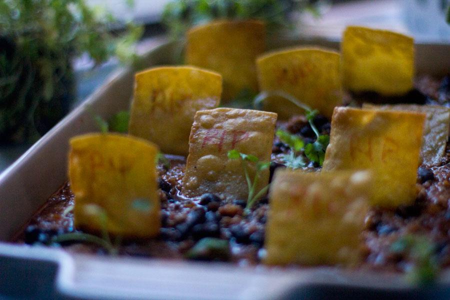 como preparar chili con carne, receta mexicana dia de los muertos