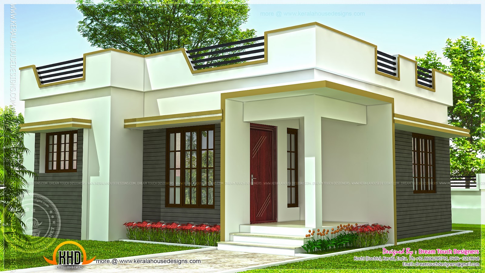 35 small and simple but beautiful house with roof deck for Home architecture design kerala