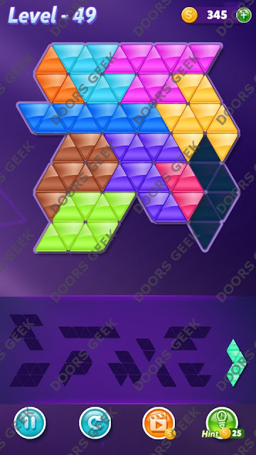 Block! Triangle Puzzle Master Level 49 Solution, Cheats, Walkthrough for Android, iPhone, iPad and iPod