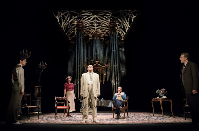 David Hare: The Moderate Soprano - Jacob Fortune-Lloyd, Nancy Carroll, Roger Allam, Paul Jesson, Anthony Calf - Duke of Yorks Theatre (Photo Johan-Perrson)