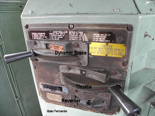 Locomotive controls on Henschel Class M6 Sri Lankan