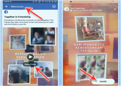Cara Menampilkan Facebook Friends Day Video 2019