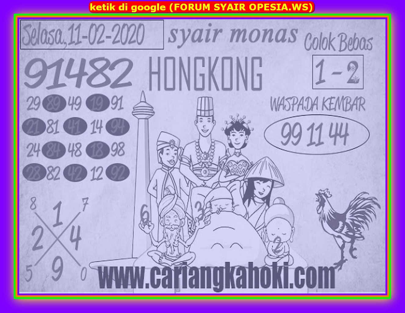 Kode syair Hongkong Selasa 11 Februari 2020 172