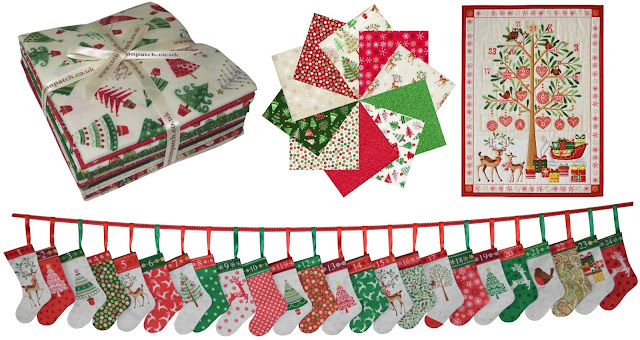 Traditional christmas fabric from Makower