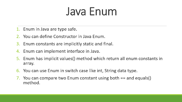 Best Example of Enum in Java